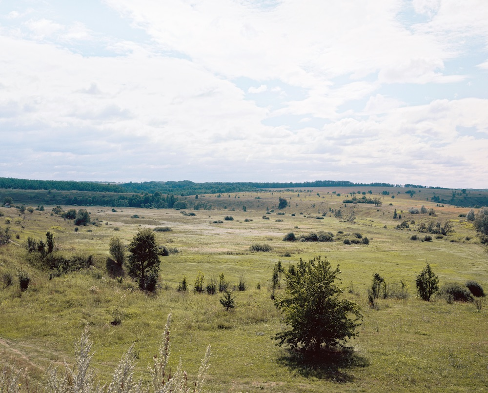 "Fotó: Anastasia Khoroshilova: Bezhin Meadow, view from the North side, ""Once the sea was	here""<br />2015–2017<br />c-print on dibond<br />Courtesy	of the artist	<br />© Anastasia Khoroshilova"