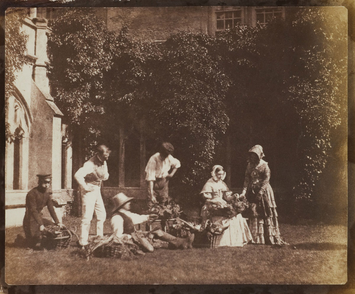 Calvert Jones <br />The Fruit Sellers<br />c. 1843<br />Photograph, salted paper print from a paper negative