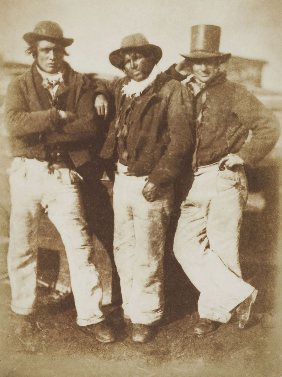 David Octavius Hill and Robert Adamson <br />Newhaven fishermen<br />c. 1845<br />Photograph, salted paper print from a paper negative<br />© Wilson Centre for Photography