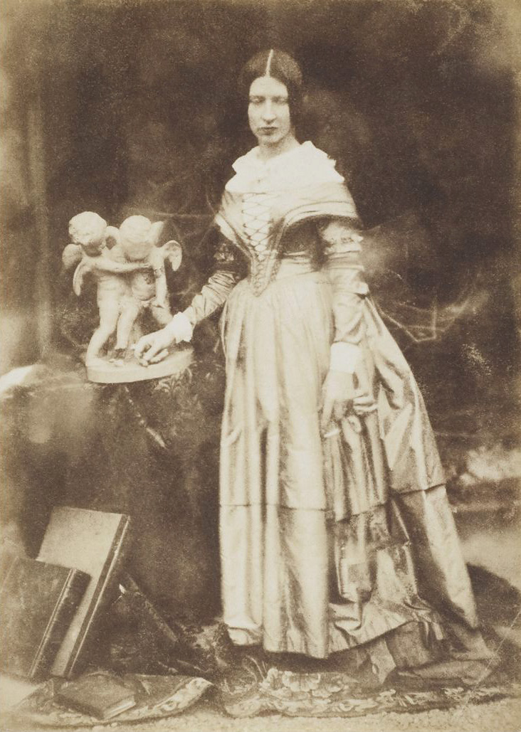 David Octavius Hill and Robert Adamson <br />Thought to be Elizabeth Rigby<br />c. 1844<br />Photograph, salted paper print from a paper negative<br /><br />