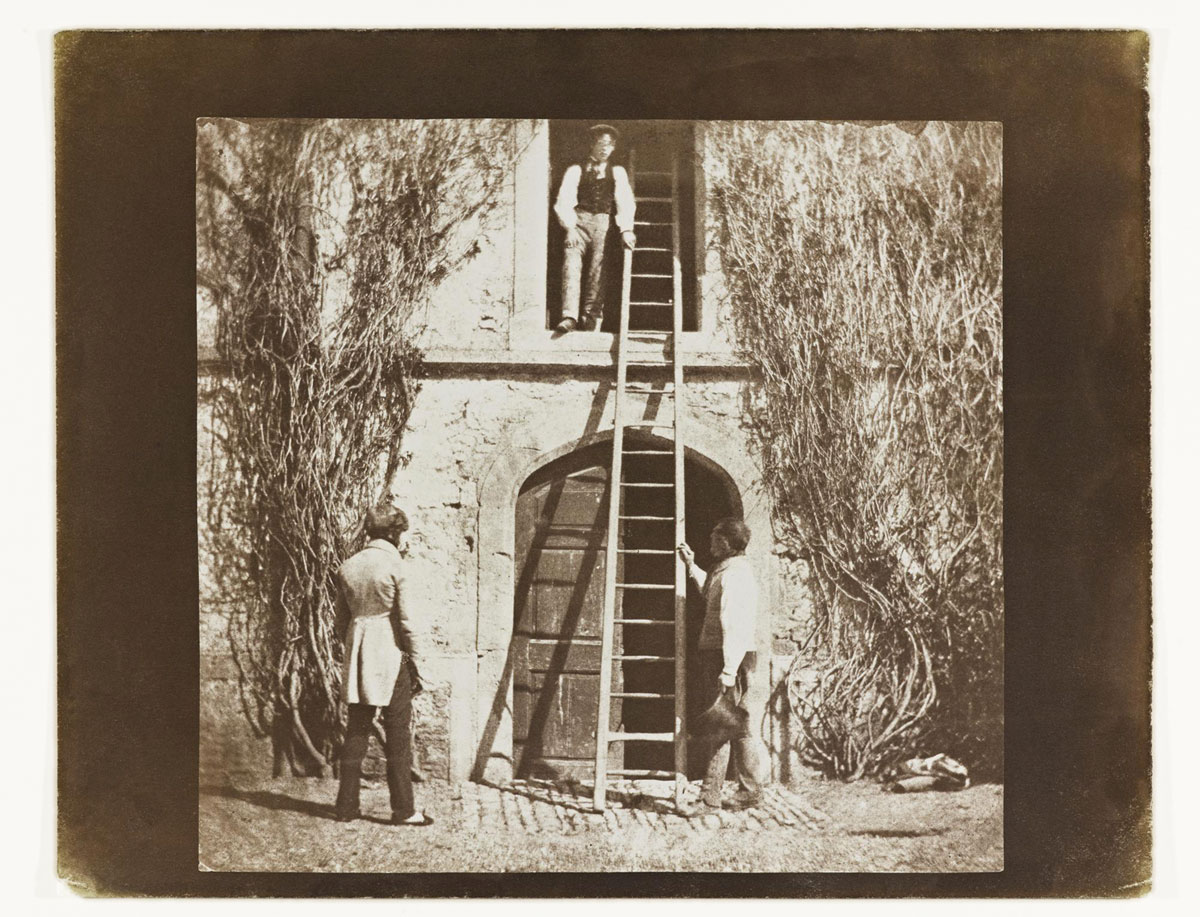 William Henry Fox Talbot<br />The Ladder<br />1844-46<br />Salt print from a calotype negative<br />Plate XIV from the Pencil of Nature, the first book to be illustrated with photographs<br />© National Museums Scotland