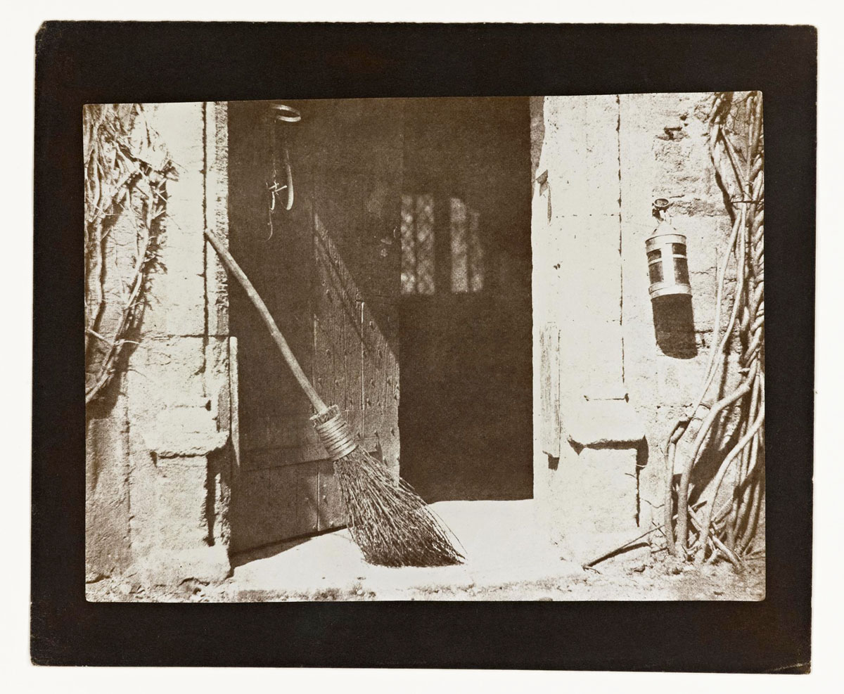 William Henry Fox Talbot<br />The Open Door<br />1844-46<br />Salt print from a calotype negative<br />Plate VI from the Pencil of Nature, the first book to be illustrated with photographs<br />© National Museums Scotland