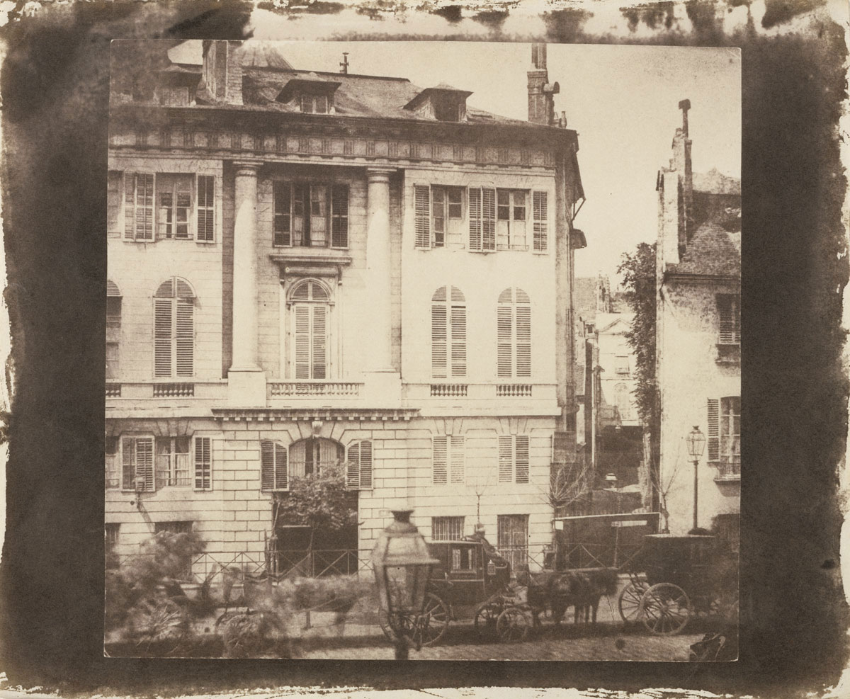 William Henry Fox Talbot <br />Boulevard des Italiens, Paris<br />1843<br />Salted paper print from a Calotype negative<br />Image: 16.8 x 17.3 cm<br />The J. Paul Getty Museum, Los Angeles