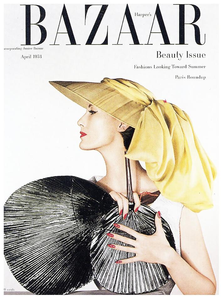 Fotó: Louise Dahl-Wolfe: Mary Jane Russell, Harper's Bazaar, April 1953 © Louise Dahl-Wolfe