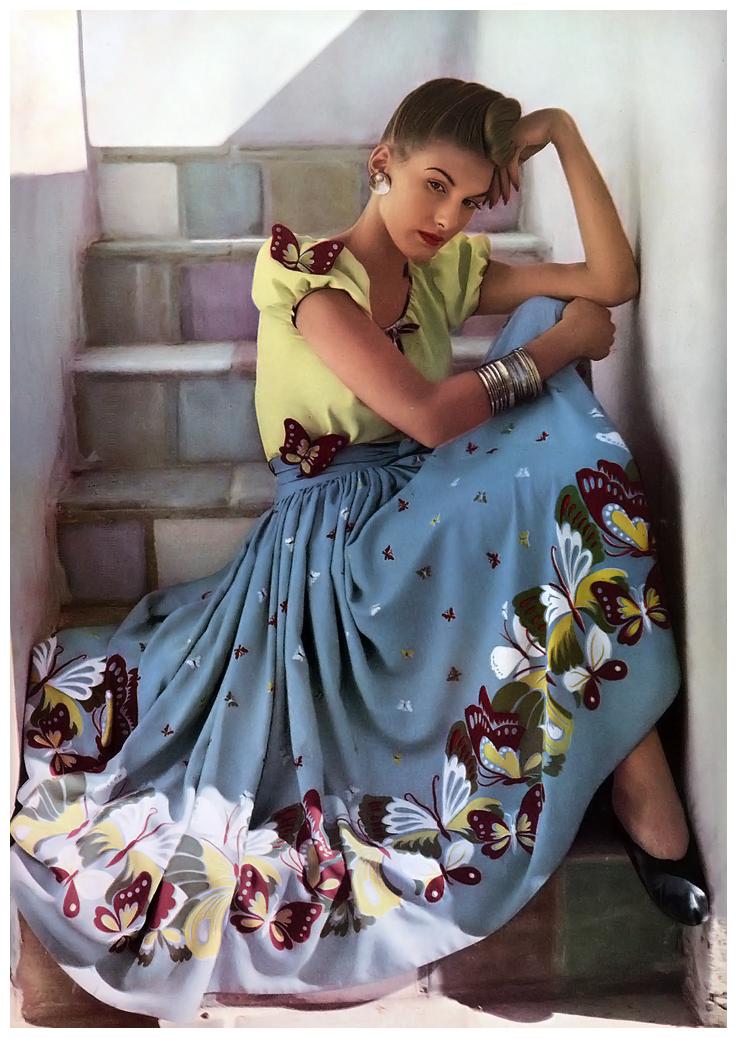 Fotó: Louise Dahl-Wolfe: Harper's Bazaar Jan 1942 © Louise Dahl-Wolfe Archive