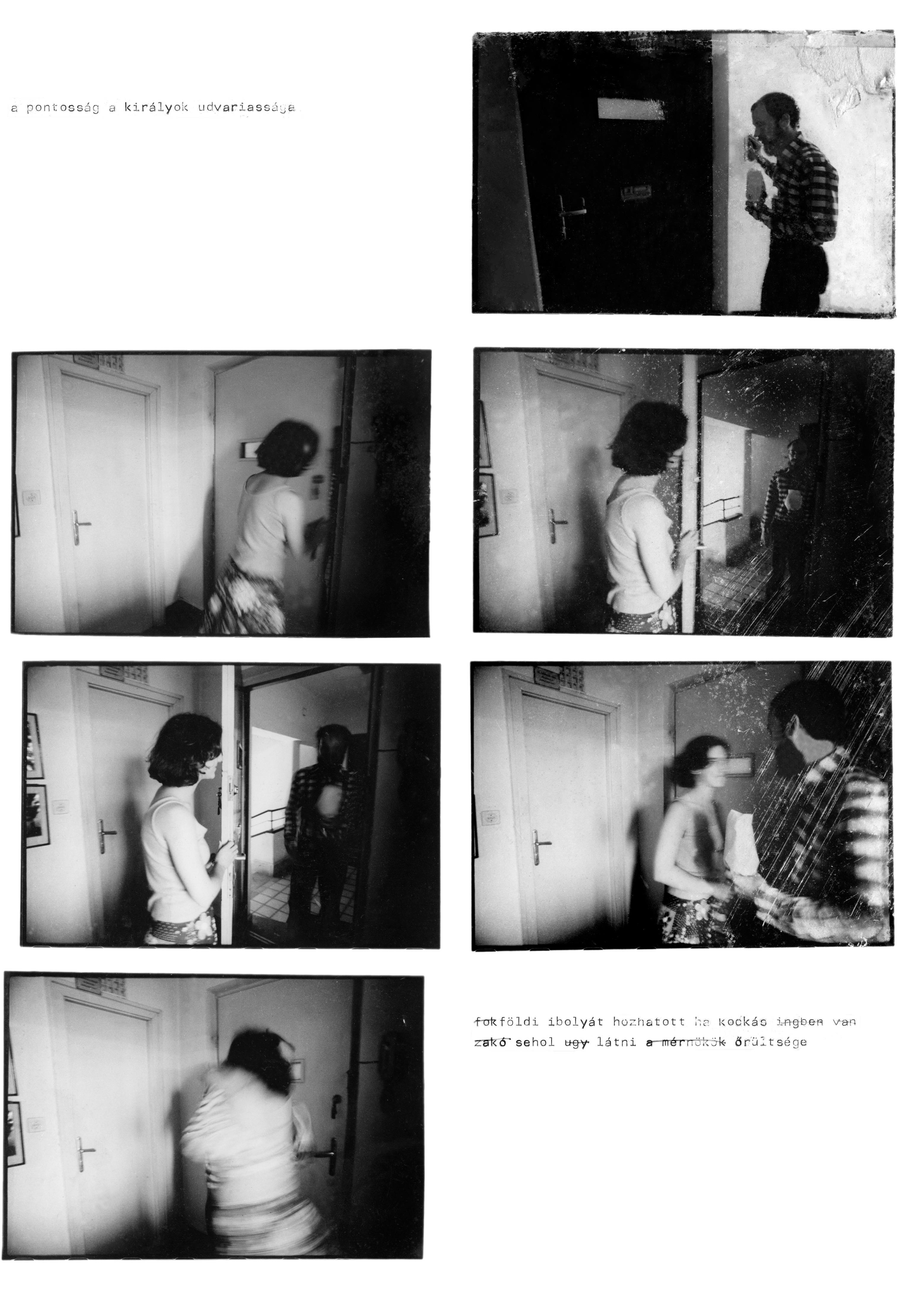 Fotó: Géczi János – Molnár László: Fotóregény, 1980. Művészetek Háza, Veszprém, 2018. 39. o.
