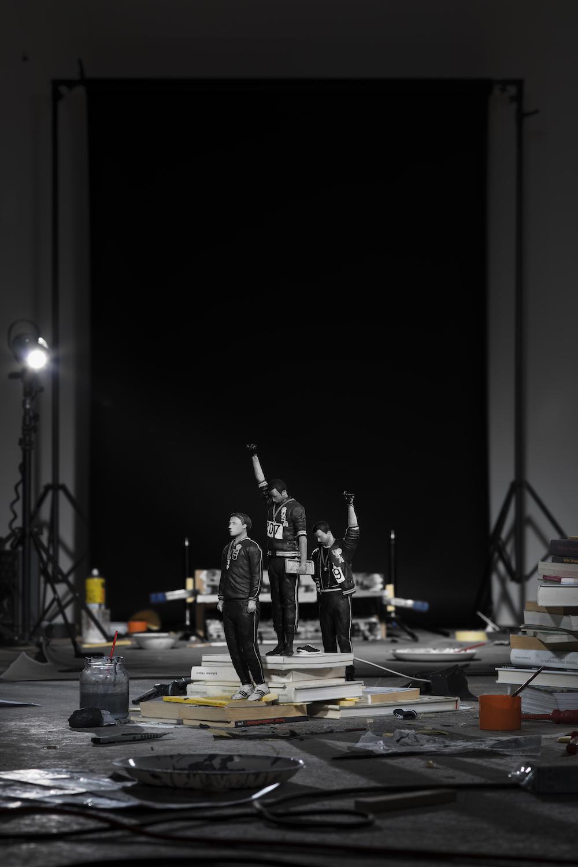 Cortis & Sonderegger<br />Making of 'Black Power Salute at Olympic Games' (by John Dominis, 1968) 2017<br /><br />A kiállítás 2019. december 7-ig látogatható a Ravestijn Galériában.