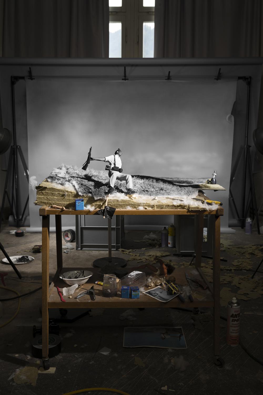 Cortis & Sonderegger<br />Making of 'The Fallen Soldier' (by Robert Capa, 1936) 2016<br /><br />A kiállítás 2019. december 7-ig látogatható a Ravestijn Galériában.
