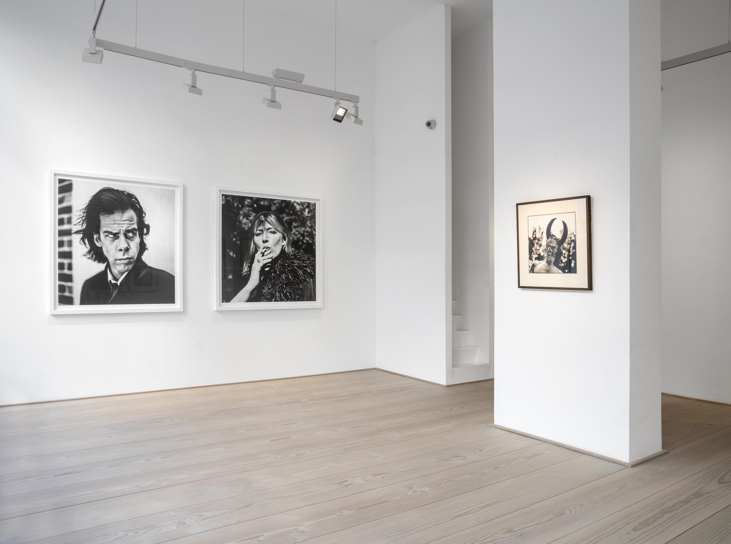 Anton Corbijn kiállítás az Anita Beckers Galériában. Enteriőrkép. 2020.