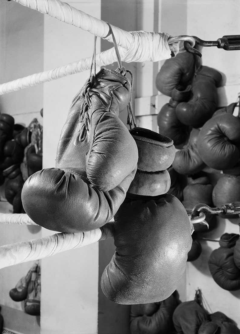 Fotó: La boxe, projet d'illustration pour 'Les Olympiques' de Montherlant<br />1948<br />René-Jacques<br />© ministère de la Culture / Médiathèque de l'architecture et du patrimoine / Donation René-Jacques