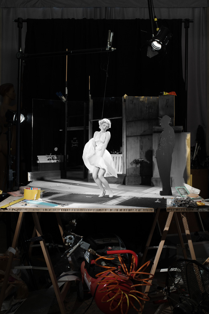 "Fotó: Cortis & Sonderegger: Making of ""The Seven Year Itch"" (by Sam Shaw, 1954), 2016 © Thames and Hudson / Cortis & Sonderegger"