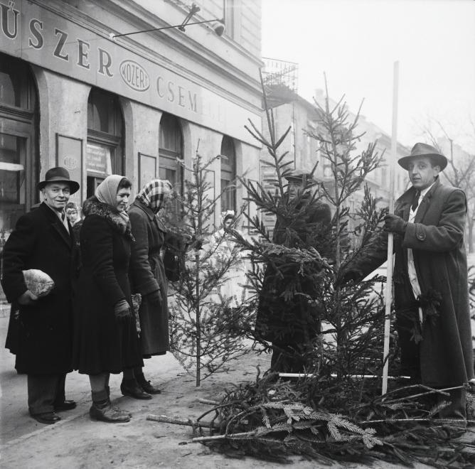 Fotó: Kotnyek Antal: Krisztina körút 7. (Csaba utca sarok) a Széll Kálmán tér felé nézve, 1953 © Fortepan