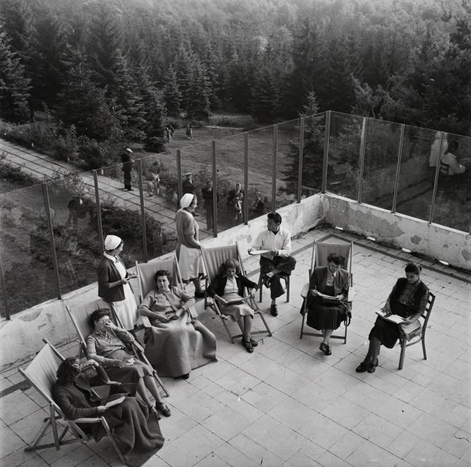 Fotó: Kotnyek Antal: Kékestető, Állami Gyógyintézet (ma Mátrai Gyógyintézet), 1958 © Fortepan