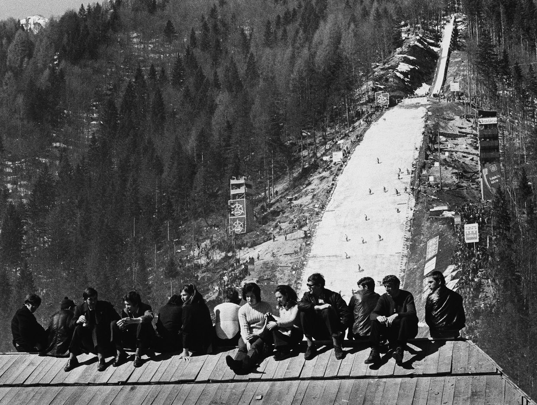 Fotó: Lazukics Anna: Érdektelenség, Planica, Szlovénia, 1972