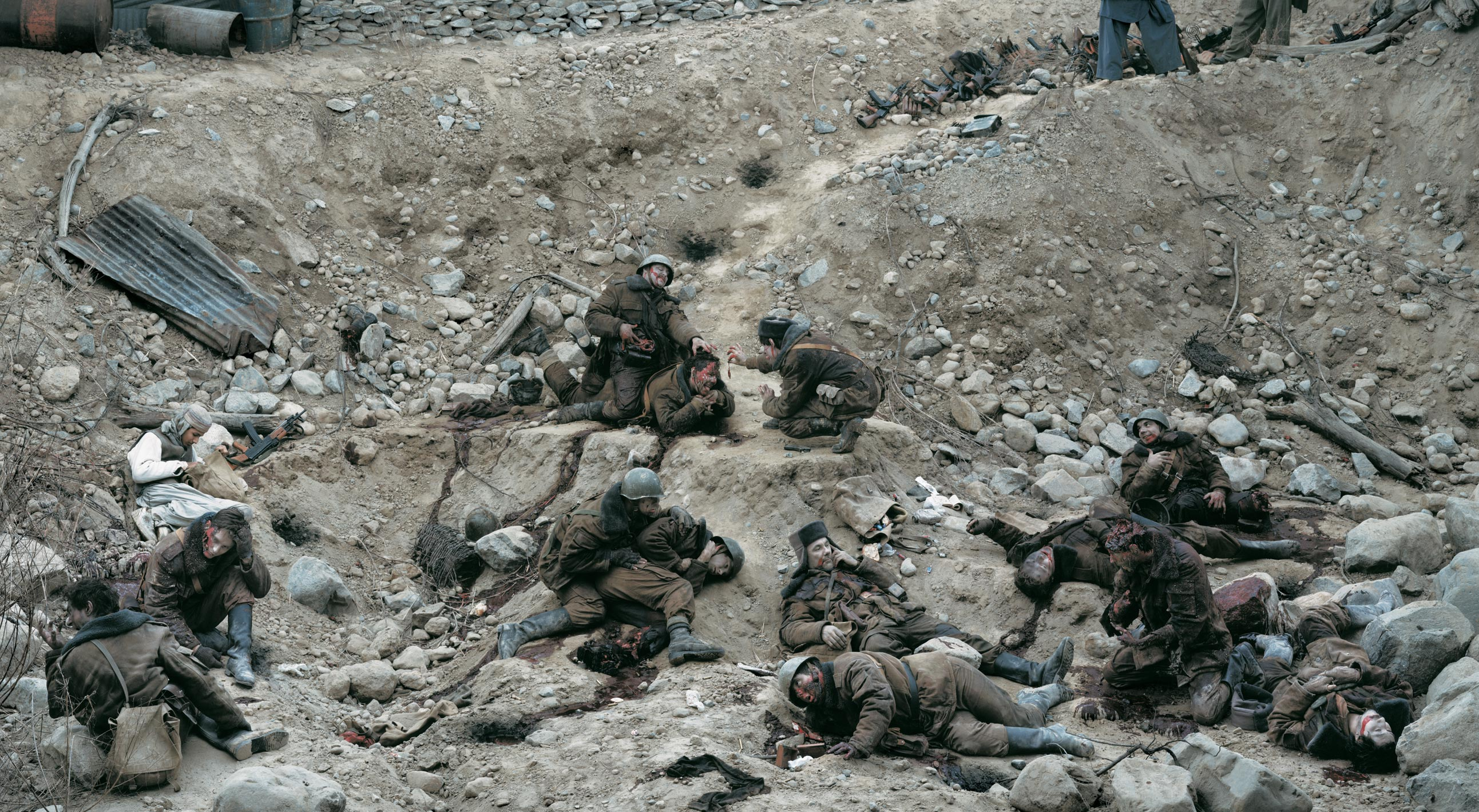 4.<br />Fotó: Jeff Wall: Dead Troops Talk (A vision after an ambush of a Red Army patrol, near Moqor, Afghanistan, winter 1986) (1992)<br />$3,666,500<br />May 8, 2012<br />Christie's New York