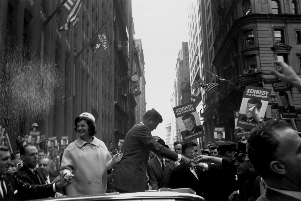 USA. 1960. New York City. Senator John F. KENNEDY and his wife, Jackie, campaigning for the presidency..jpg