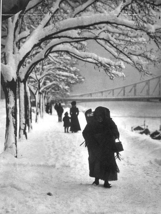 Fotó: Balogh Rudolf: Téli Duna-part, 1909. Brómezüst zselatin © Magyar Fotográfiai Múzeum