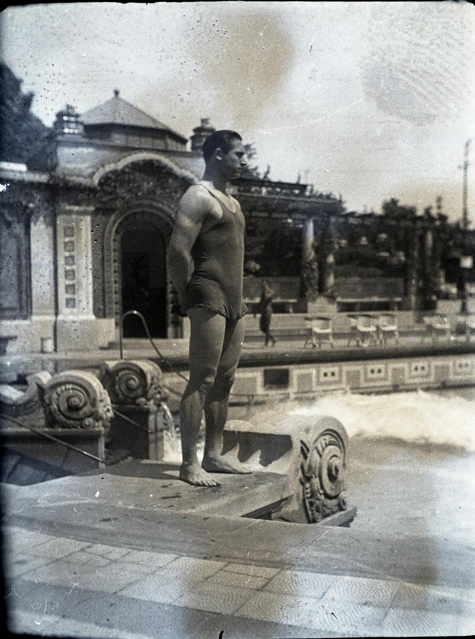 Fotó: Pusztai Sándor: Ismeretlen fürdővendég, 143 © Pusztai Sándor örökösei - FSZEK Budapest Gyűjtemény