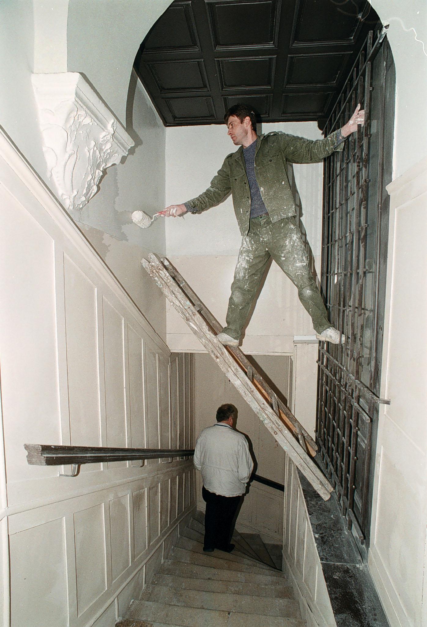 Lépcsőház, 1990-es évek vége<br />Fotó: Bánkuti András