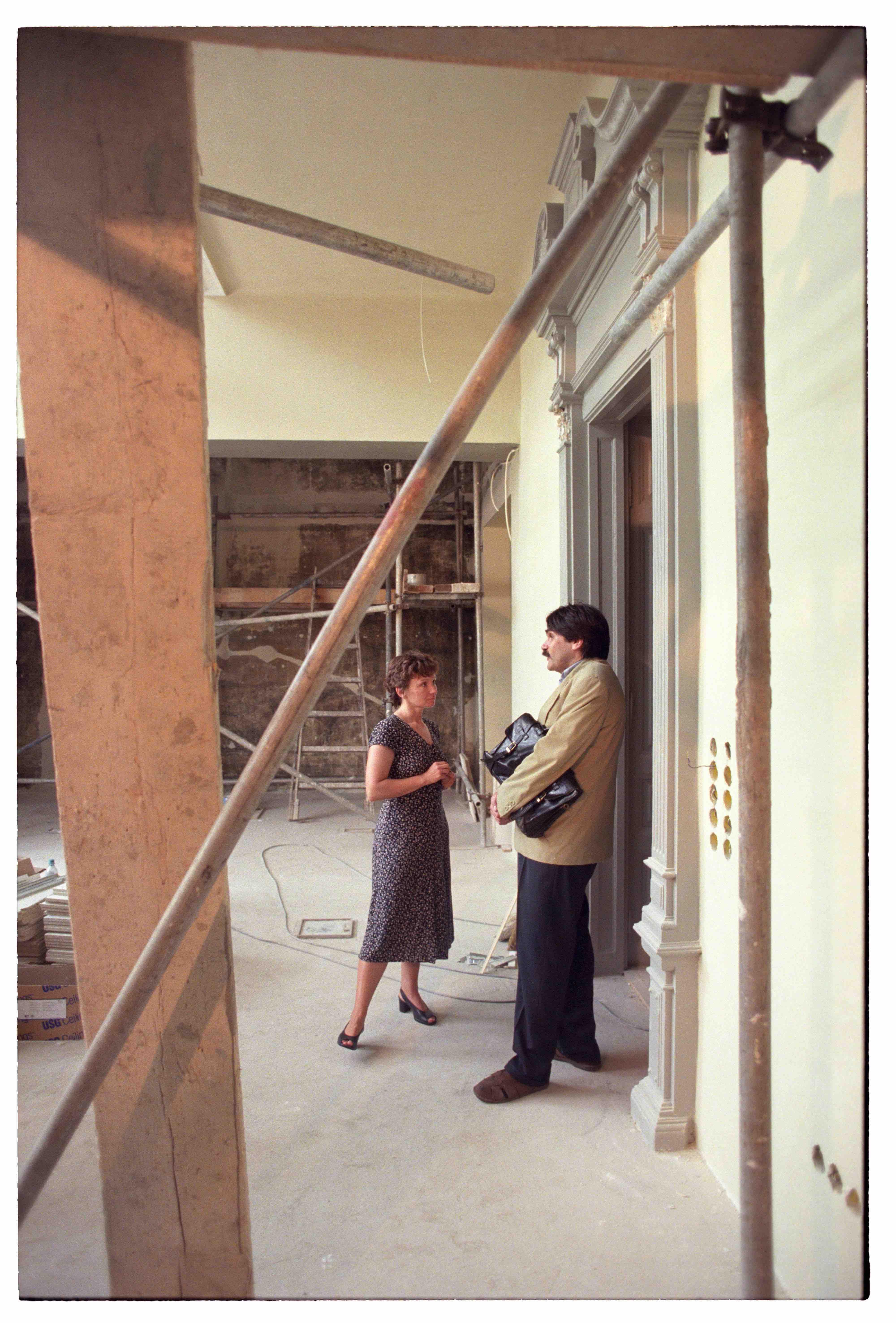 Kolta Magdolna és Török András a Napfényműteremben, 1990-es évek vége<br />Fotó: Bánkuti András