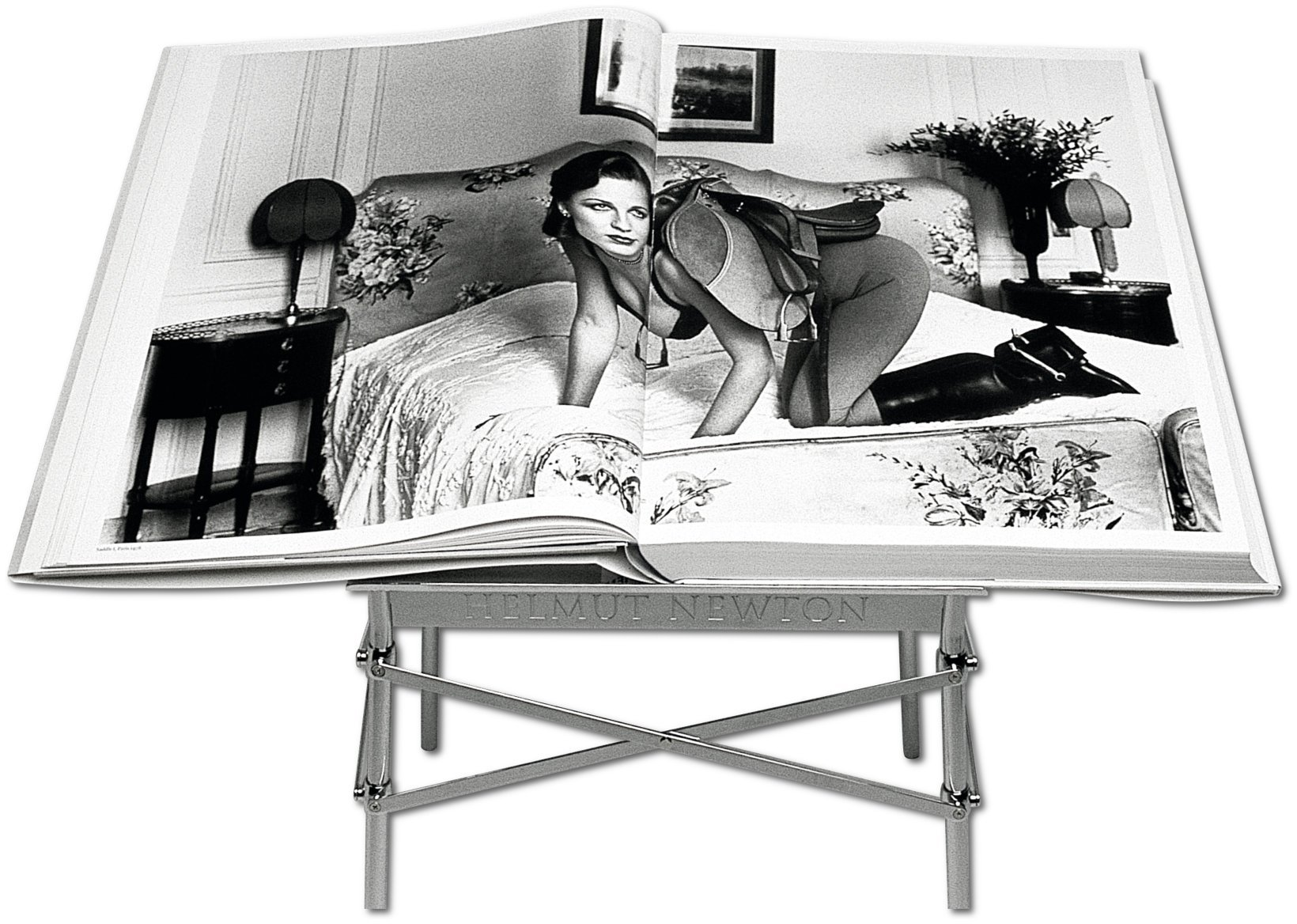 Helmut Newton: SUMO<br />Edition of 10,000<br />Helmut Newton, Philippe Starck<br />Hardcover with book stand, <br />50 x 70 cm, 464 pages<br />TASCHEN