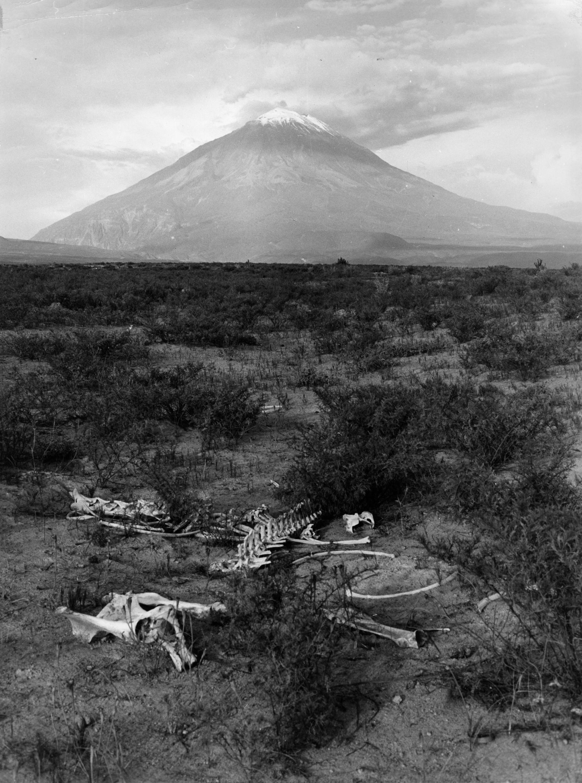 Fotó: Paul Almásy: A Misti vulkán Peruban, 1961, 40 x 30 cm, zselatinos ezüst, Magyar Fotográfiai Múzeum