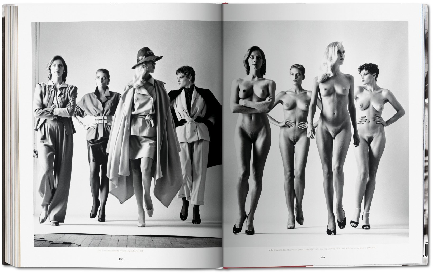 Fotó: Helmut Newton: They 're Coming, Dressed/Naked, Paris, from the series Big Nudes, 1981 © Helmut Newton
