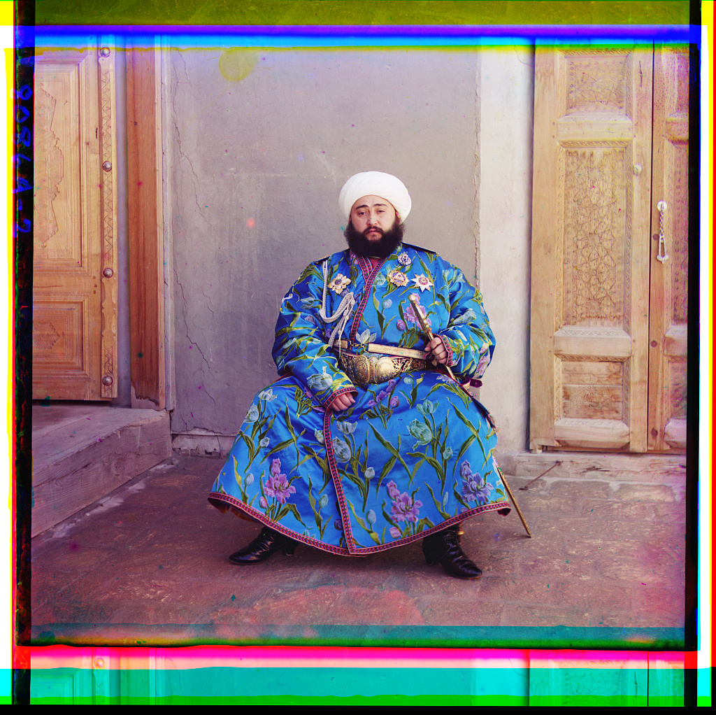 Fotó: Szergej Prokugyin-Gorszkij: Bukhara emirje. 1905-1915 között. © Prokugyin-Gorszkij gyűjtemény, Amerikai Kongresszusi Könyvtár