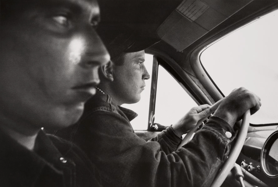 Robert Frank (American, born Switzerland, 1924)<br />Americans 32<br />U.S. 91, Leaving Blackfoot, Idaho<br />1956<br />Gelatin silver print<br />Image: 28.9 x 42.2 cm (11 3/8 x 16 5/8 in.)<br />Collection of Barbara and Eugene Schwartz<br />Photograph © Robert Frank, from The Americans<br /><br />