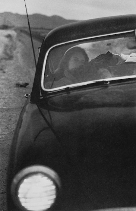 Robert Frank (American, born Switzerland, 1924)<br />Americans 83<br />U.S. 90, en route to Del Rio, Texas<br />1955<br />Gelatin silver print<br />Image (and board): 47.6 x 31.1 cm (18 3/4 x 12 1/4 in.)<br />Private collection, courtesy Hamiltons Gallery, London<br />Photograph © Robert Frank, from The Americans