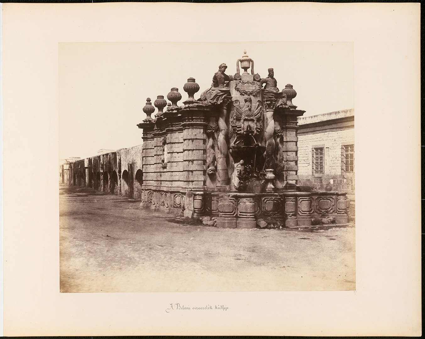 Fotó: Rosti Pál: A beleni vízvezeték kútfeje Mexikó város, 1857, Mexikó © Magyar Fotográfiai Múzeum