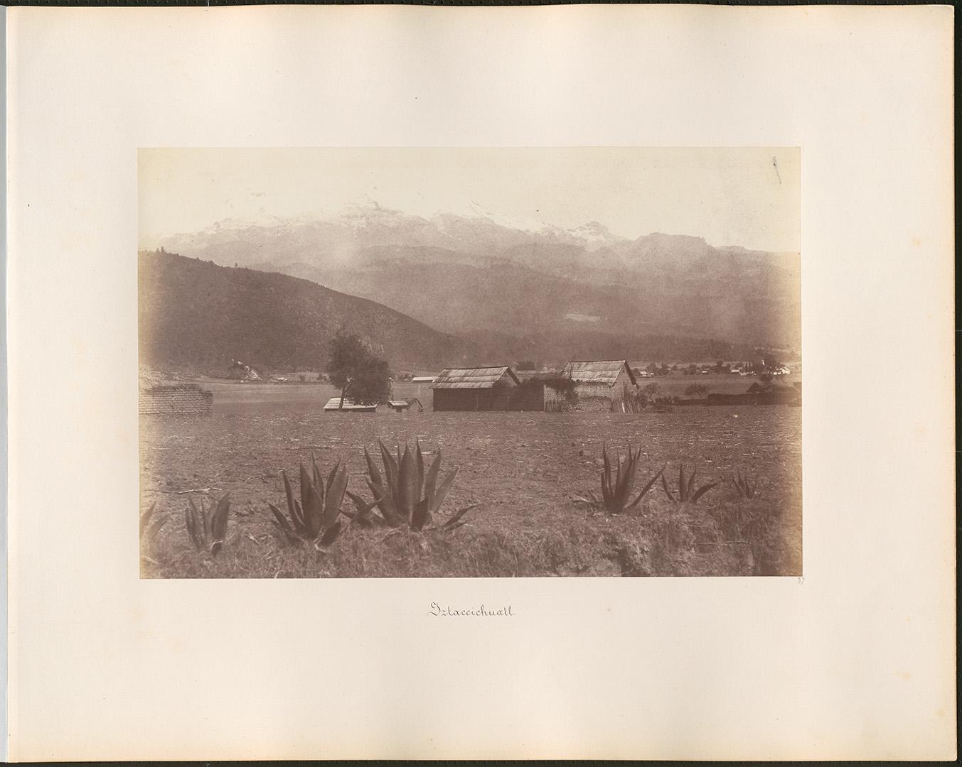 Fotó: Rosti Pál: Iztaccihuatl hegy, 1858, Mexikó © Magyar Fotográfiai Múzeum