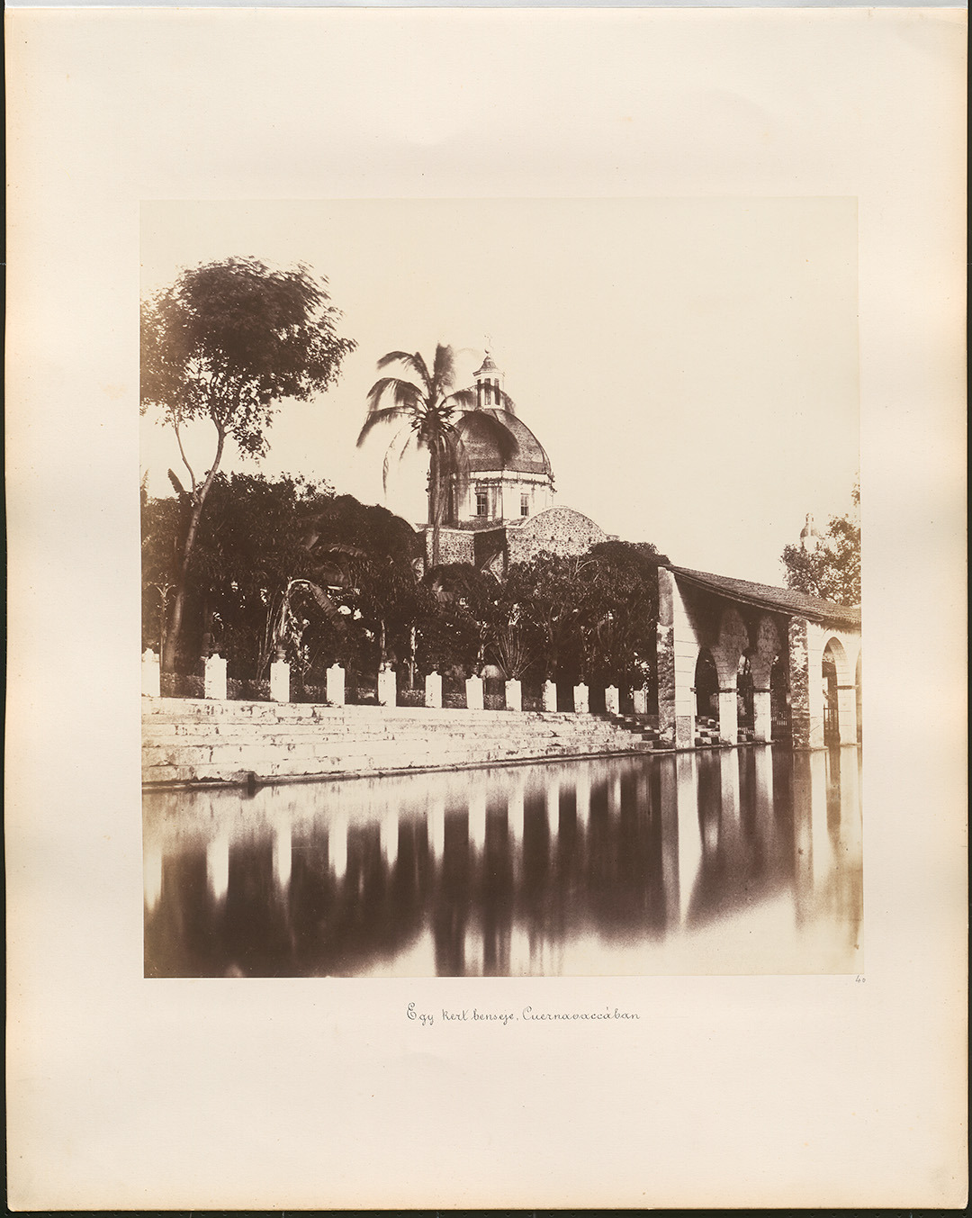 Fotó: Rosti Pál: Egy kert Cuernavaccában, 1858, Mexikó © Magyar Fotográfiai Múzeum