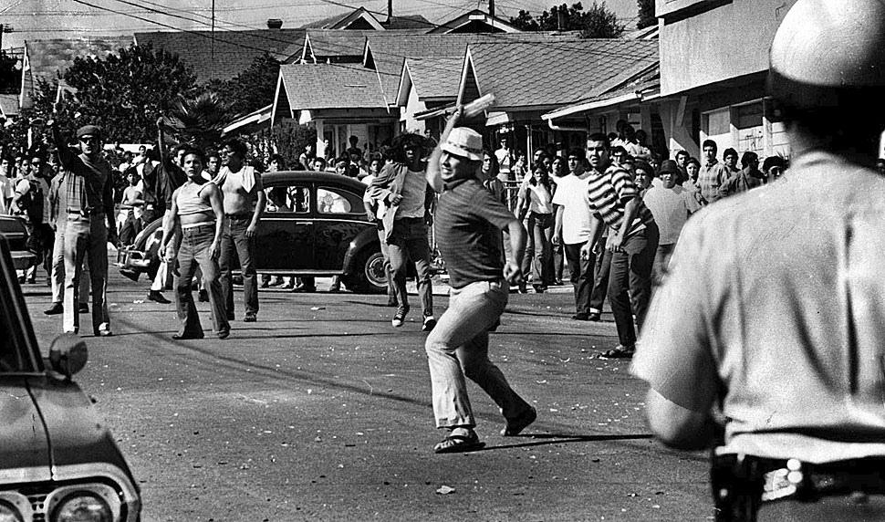 Fotó: Tüntetés Los Angeles keleti részén, 1970. augusztus 29. © UCLA Library/Los Angeles Times