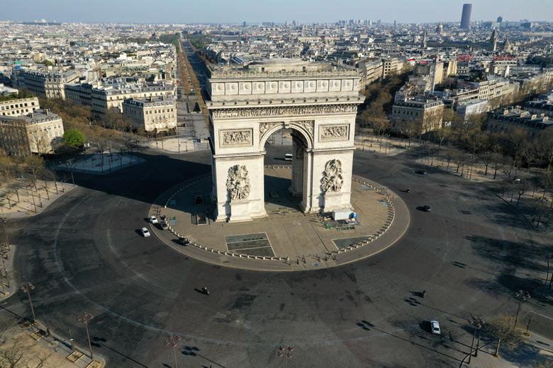 Fotó: Párizs a koronavírus terjedésének lassítására bevezetett lezárás után, 2020. április 1. REUTERS / Pascal Rossignol