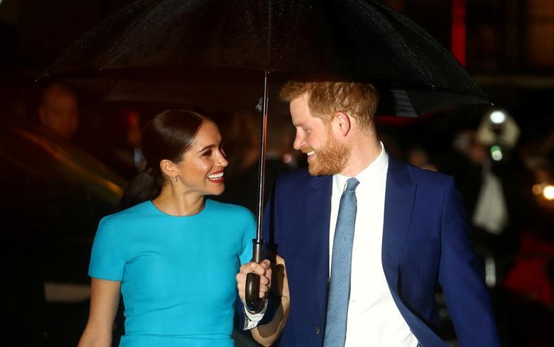 Fotó: Harry herceg és felesége, Meghan, Sussex hercegnője megérkeznek az Endeavour Fund Awards-ra Londonban, Nagy-Britannia, 2020. március 5. REUTERS / Hannah McKay