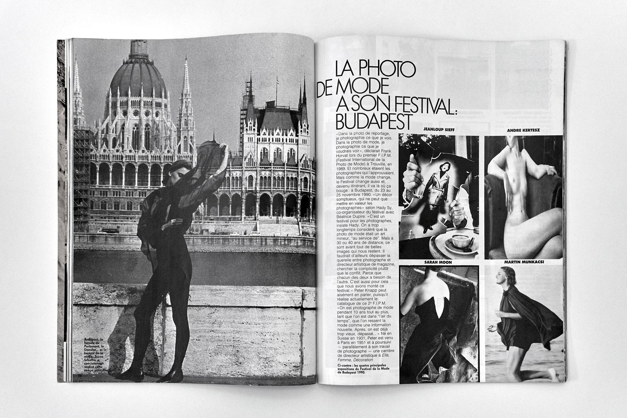 Fotó: A II. Nemzetközi Divatfotófesztiválról szóló cikk a Photo magazin 1990/277. számában