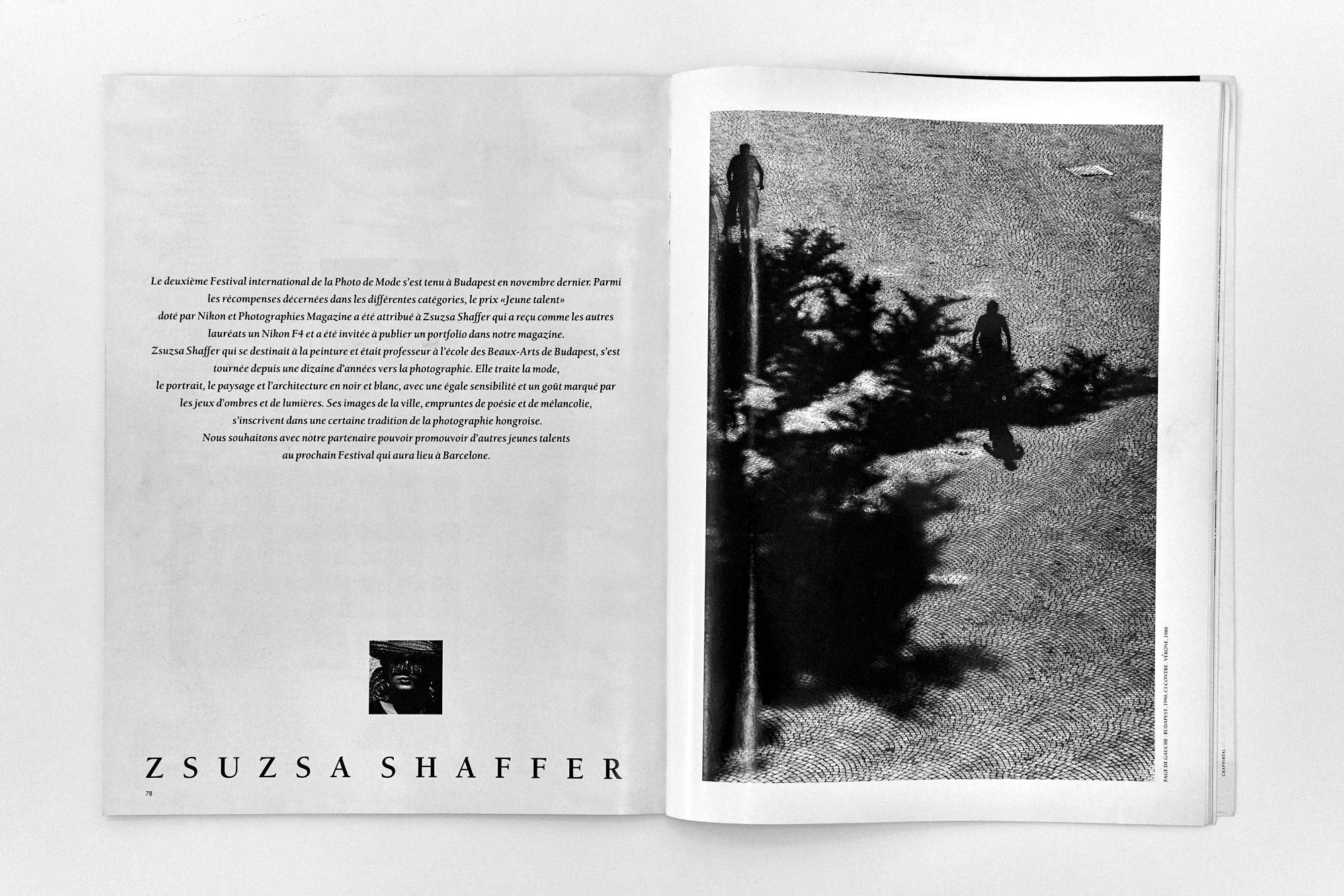 Fotó: A II. Nemzetközi Divatfotófesztiválról szóló cikk a Photographies magazine 1991/03. számában