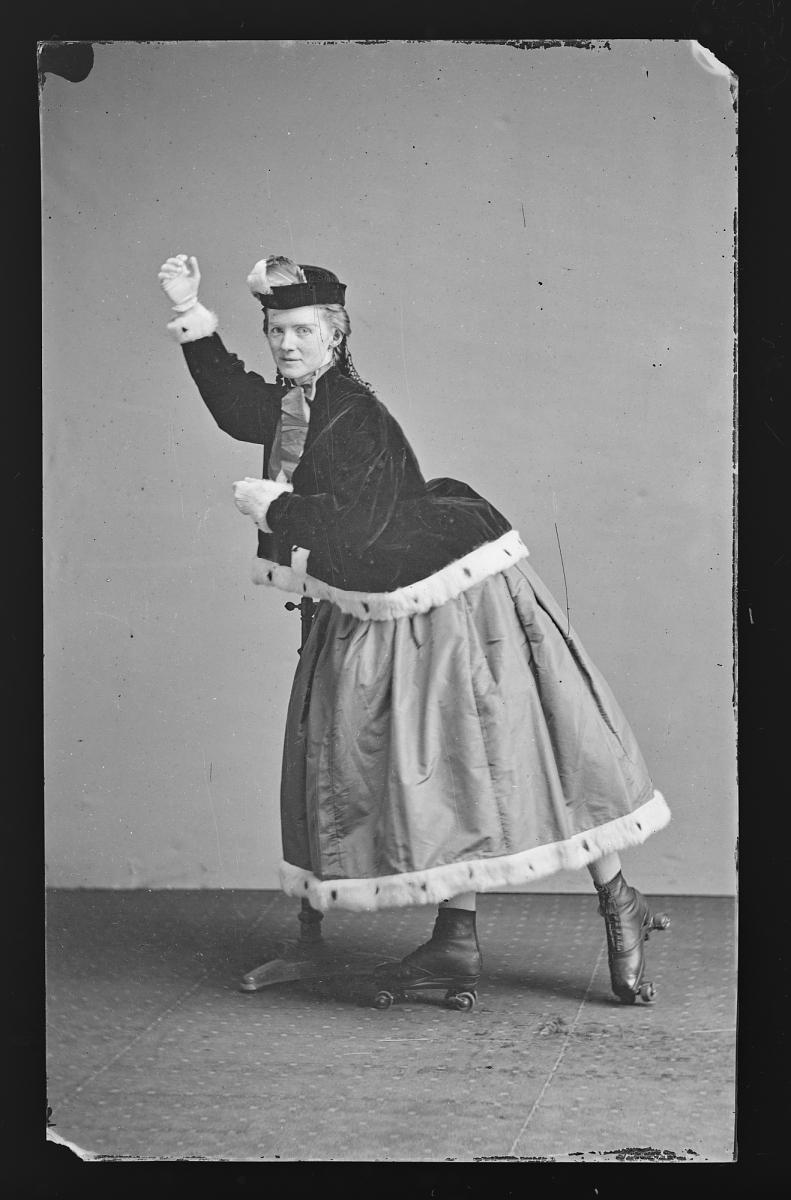 Fotó: Mathew Brady Studio: Görkoris nő, 1860-1870 között, kollódiumos üvegnegatív<br />National Portrait Gallery, Smithsonian Institution; Frederick Hill Meserve Collection