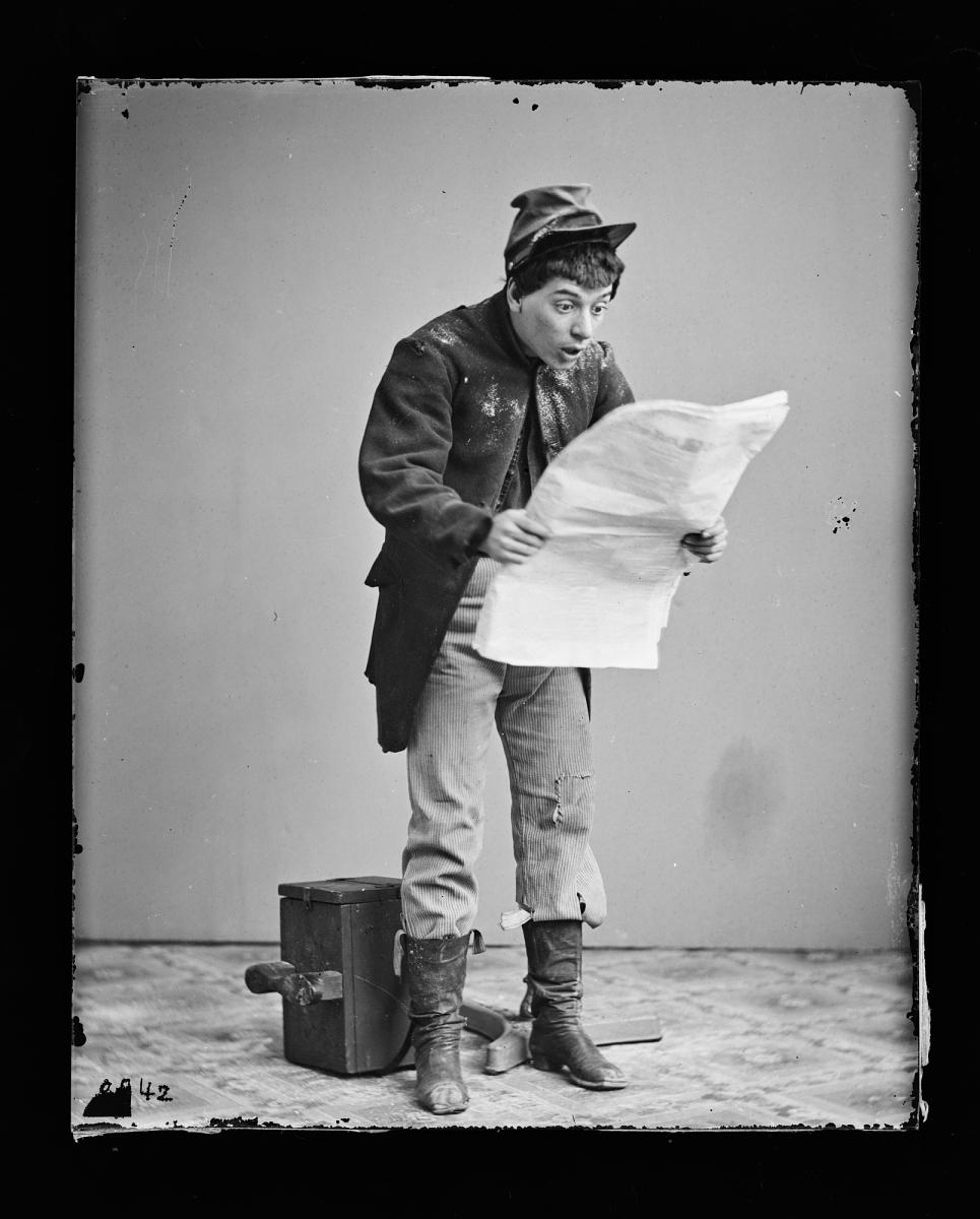 Fotó: Charles T. Parsloe, Jr.: Önarckép, 1860-1870 között, kollódiumos üvegnegatív <br />National Portrait Gallery, Smithsonian Institution; Frederick Hill Meserve Collection<br />