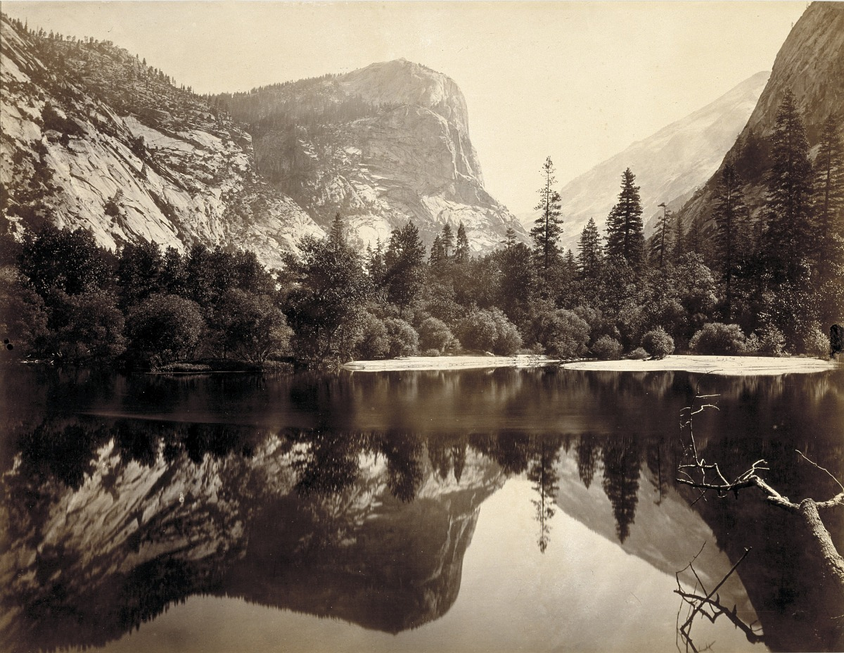Fotó: Charles L. Weed: Mirror Lake, Yosemite Valley, Mariposa County, California, 1865<br />Smithsonian American Art Museum, Gift of Dr. and Mrs. Charles T. Isaacs