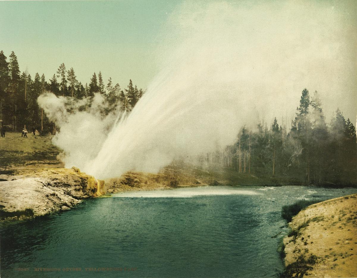 Fotó: Ismeretlen / Detroit Photo Company: Riverside Gejzír, Yellowstone National Park, 1905, kromolitográfia<br />Smithsonian American Art Museum, Gift of Mitchell and Nancy Steir