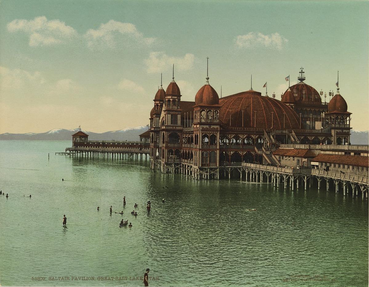 Fotó: Ismeretlen / Detroit Photo Company: Saltair Pavilion, Great Salt Lake, Utah, 1901,  kromolitográfia<br />Smithsonian American Art Museum, Gift of Mitchell and Nancy Steir<br />
