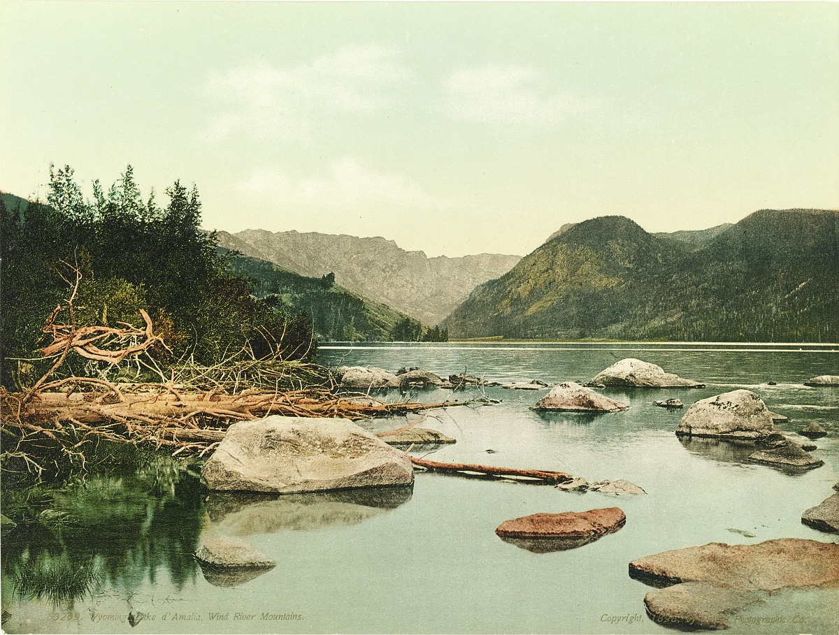 Fotó: Ismeretlen / Detroit Photo Company: Wyoming, Lake d'Amalia, Wind River Mountains, 1898, kromolitográfia<br /><br />Smithsonian American Art Museum, Gift of Mitchell and Nancy Steir
