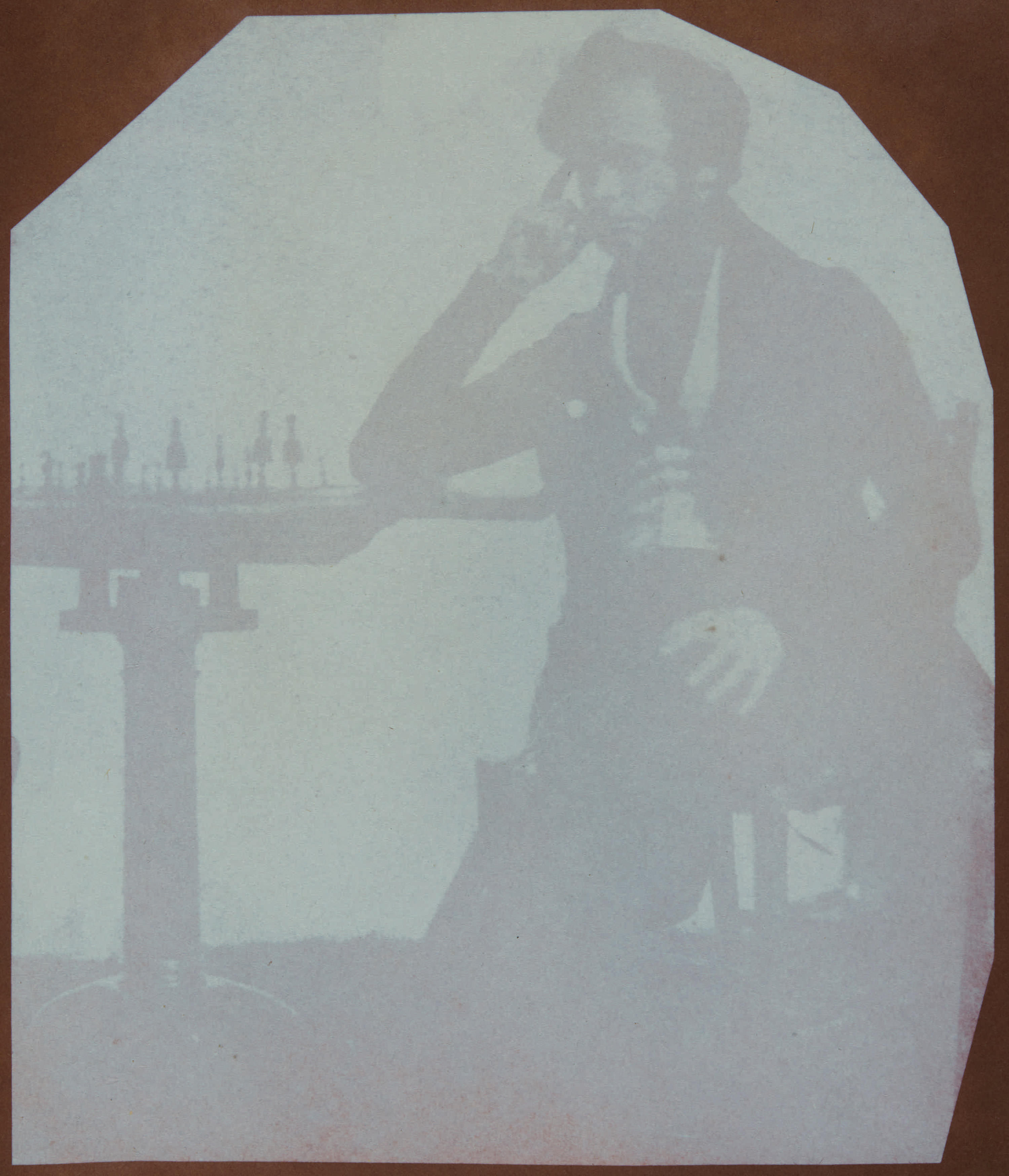 Fotó: William Henry Fox Talbot:<br />Nicolaas Henneman playing chess (Talbot's assistant)<br />William Henry Fox Talbot Archive<br />Courtesy of Sotheby's