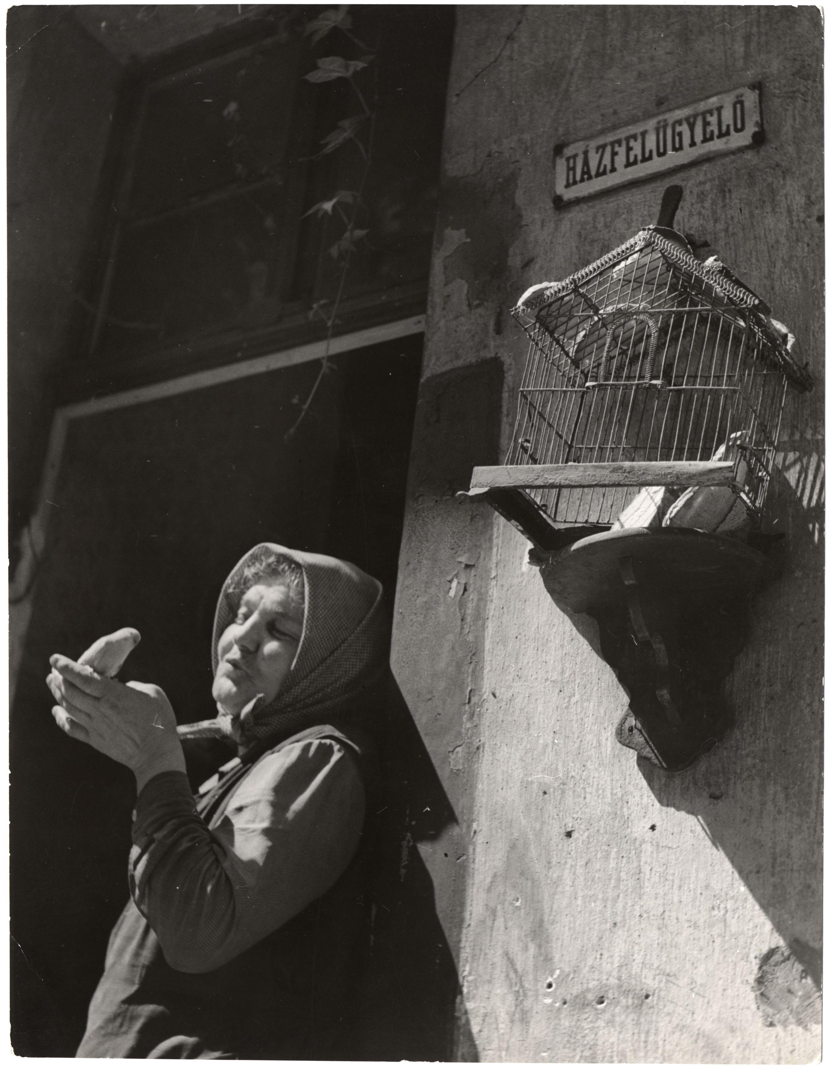 Fotó: Gink Károly: Házfelügyelő, 1958 © Magyar Fotográfiai Múzeum