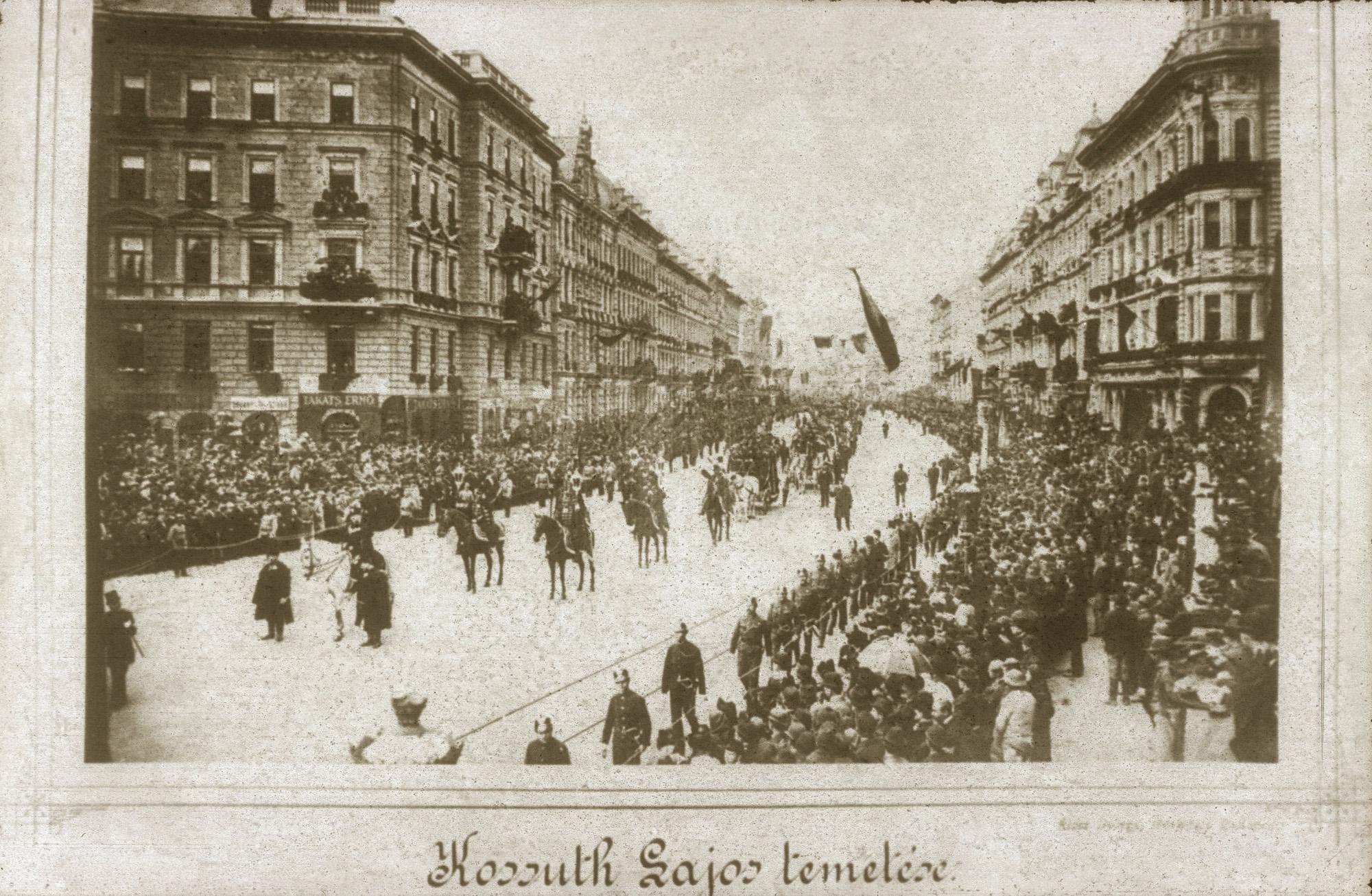 Fotó: Klösz György: Kossuth Lajos temetése, 1894 (Kisképző Digitális Fotótár)