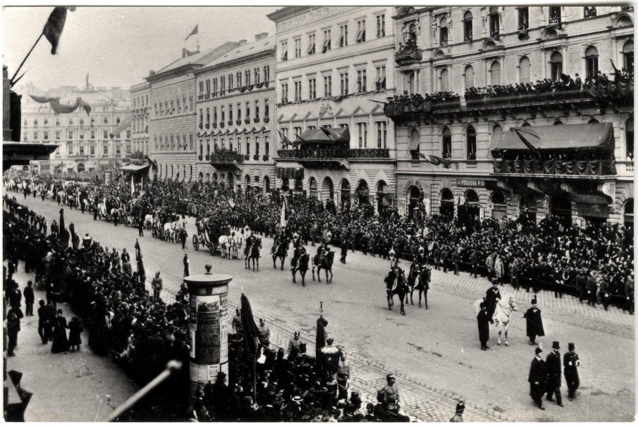 Fotó: Mai Manó: Kossuth Lajos temetése, 1894 © Magyar Fotográfiai Múzeum