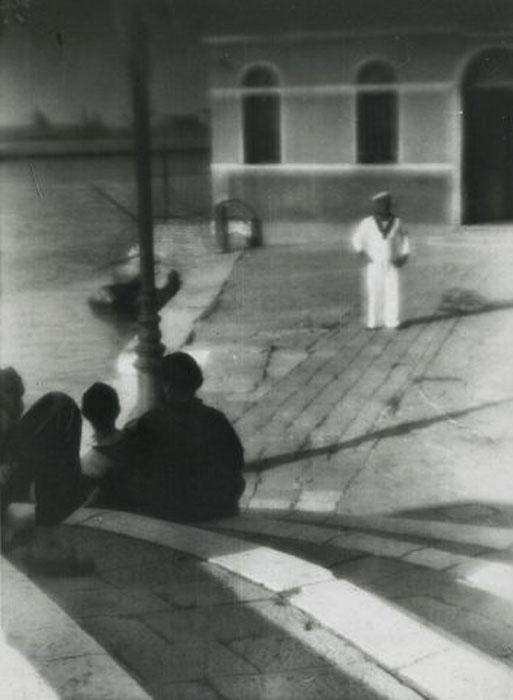 Fotó: Pécsi József: A rakparton, 1928 © Magyar Fotográfiai Múzeum