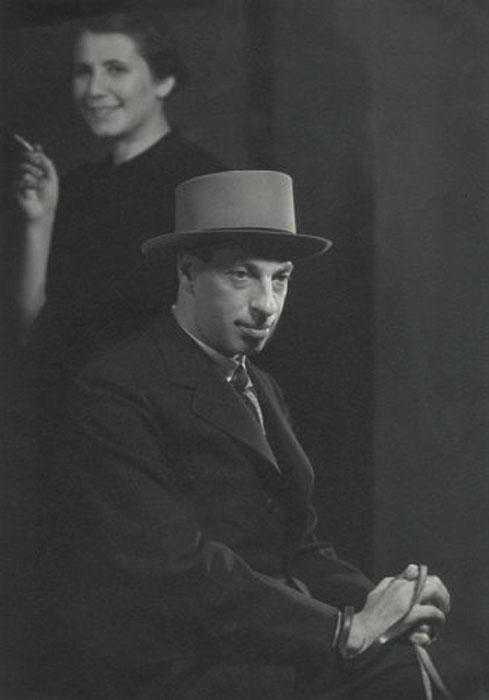 Fotó: Pécsi József: Önarckép Rozival, 1935 © Magyar Fotográfiai Múzeum